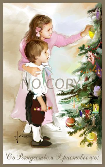 Настоящее рождество рисунки и