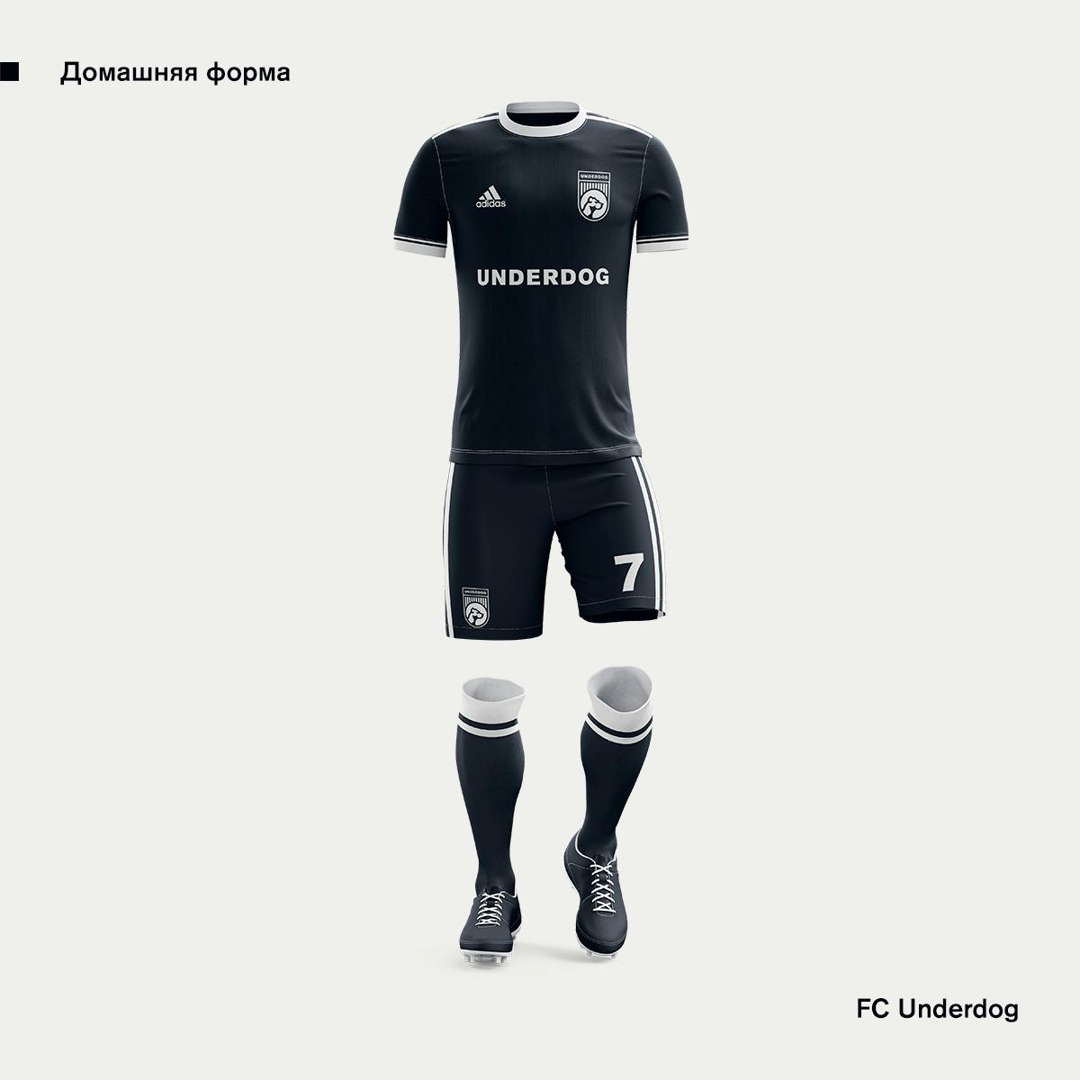 Футбольный клуб UNDERDOG - разработать фирстиль и бренд-бук фото f_3335cb31ea021d60.png