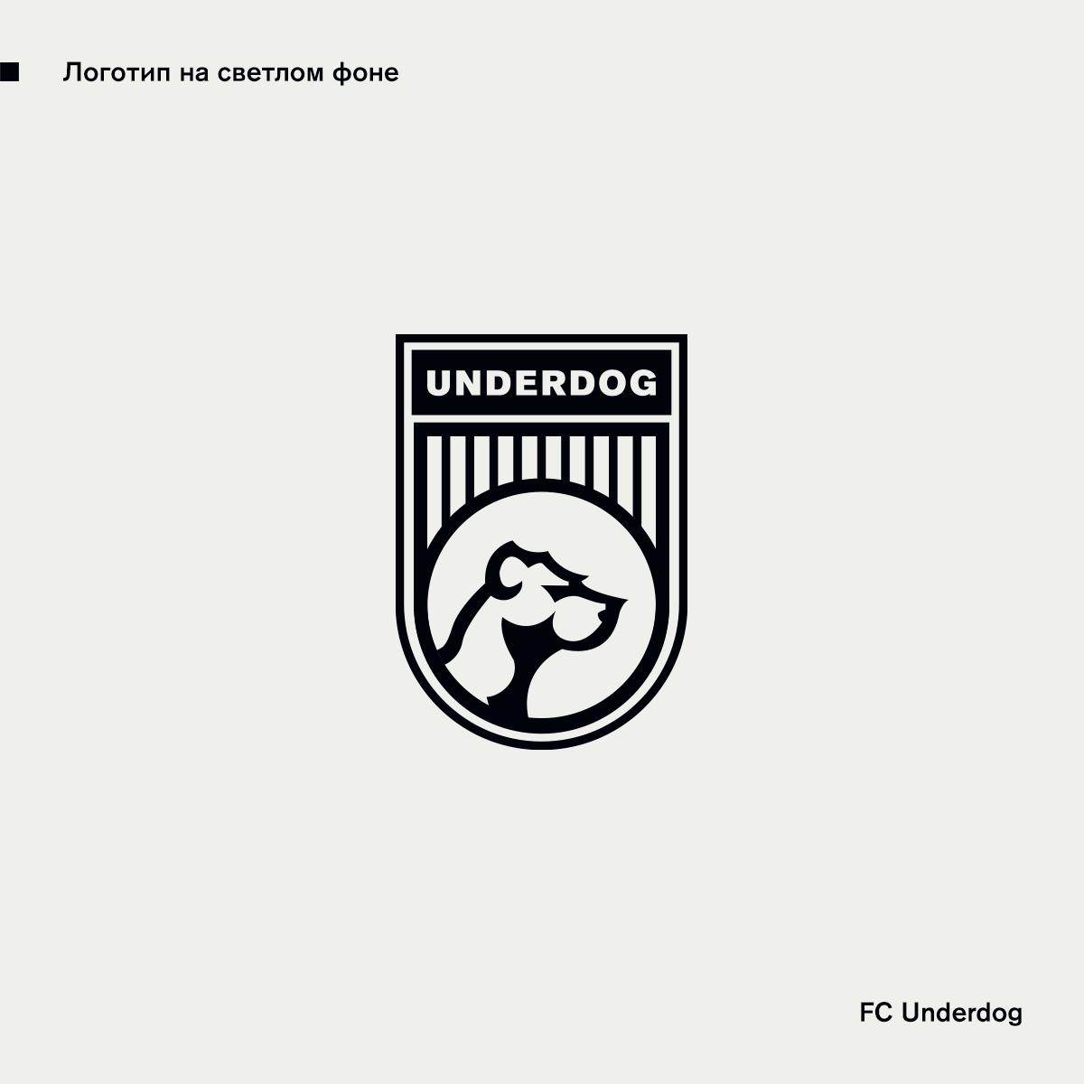 Футбольный клуб UNDERDOG - разработать фирстиль и бренд-бук фото f_8495cb31e94aea32.png