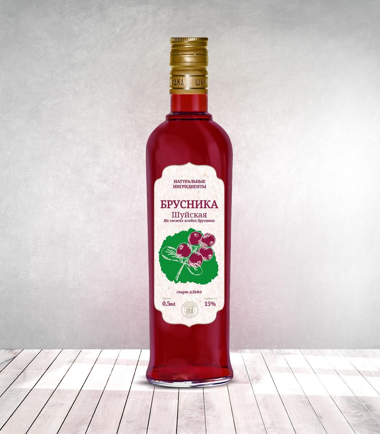 Дизайн этикетки алкогольного продукта (сладкая настойка) фото f_0645f8830493fe75.jpg