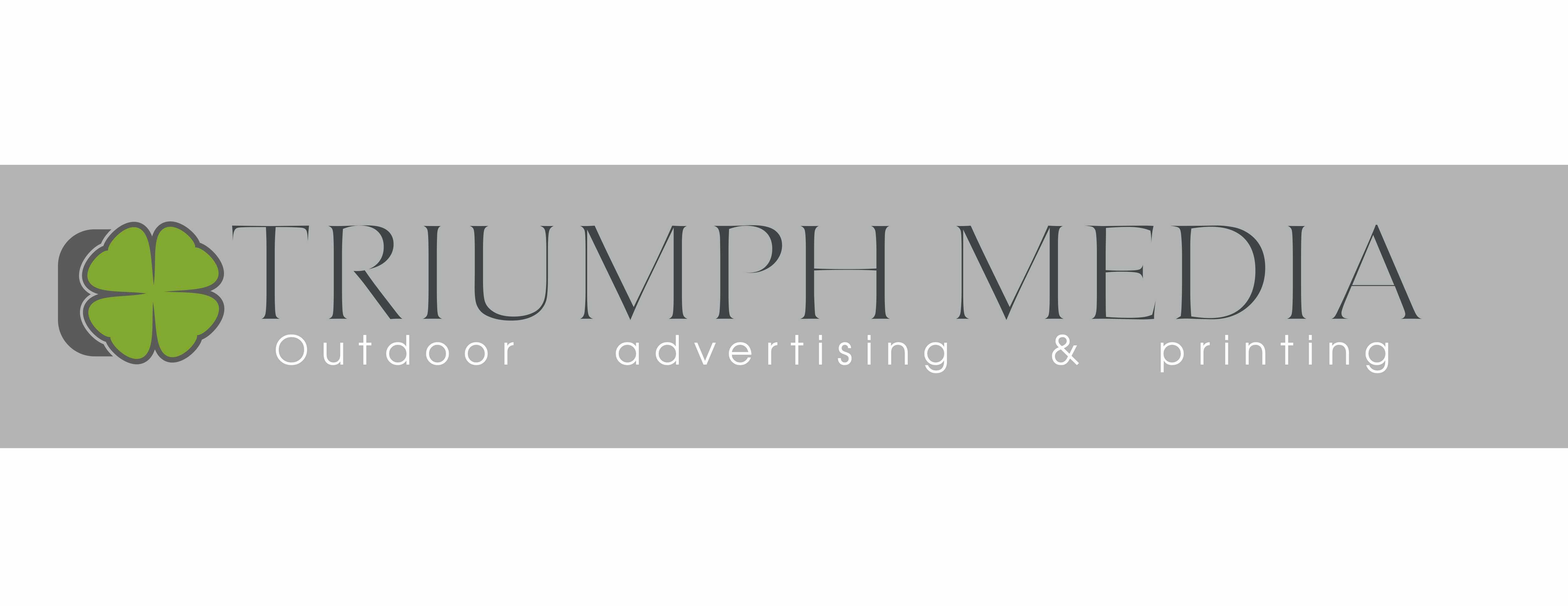 Разработка логотипа  TRIUMPH MEDIA с изображением клевера фото f_507091a0c1fb3.jpg