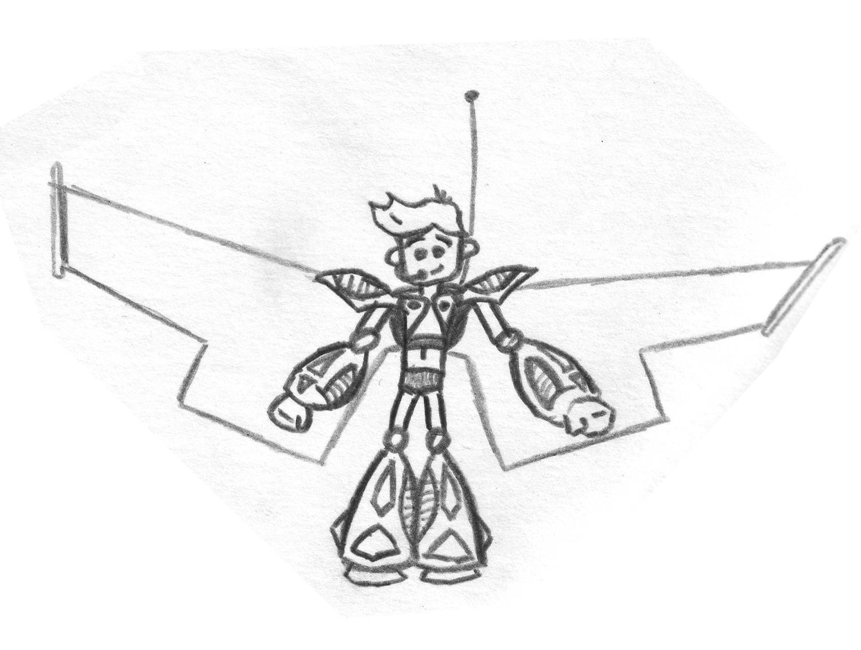 """Модель Робота - Ребёнка """"Роботёнок"""" фото f_4b4a58f9f3e60.jpg"""