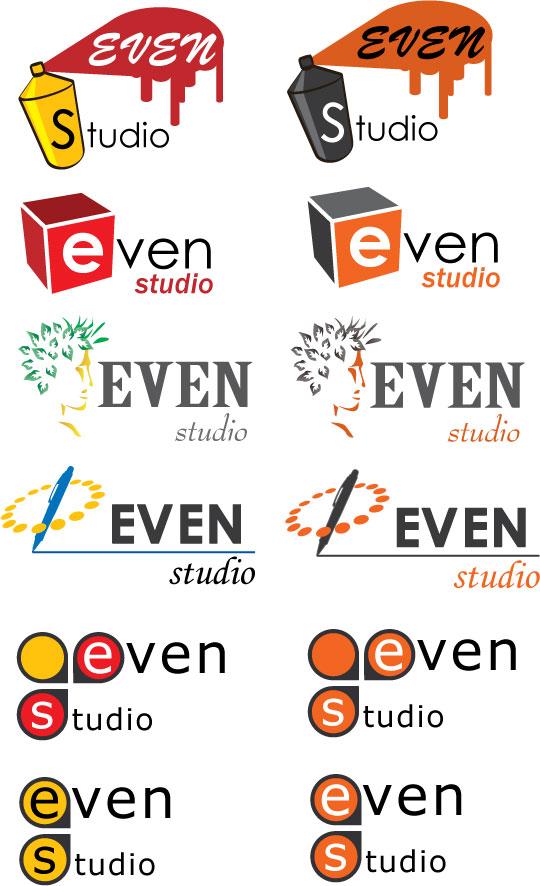"""Варианты логотипов для """"Эвен-студио"""""""