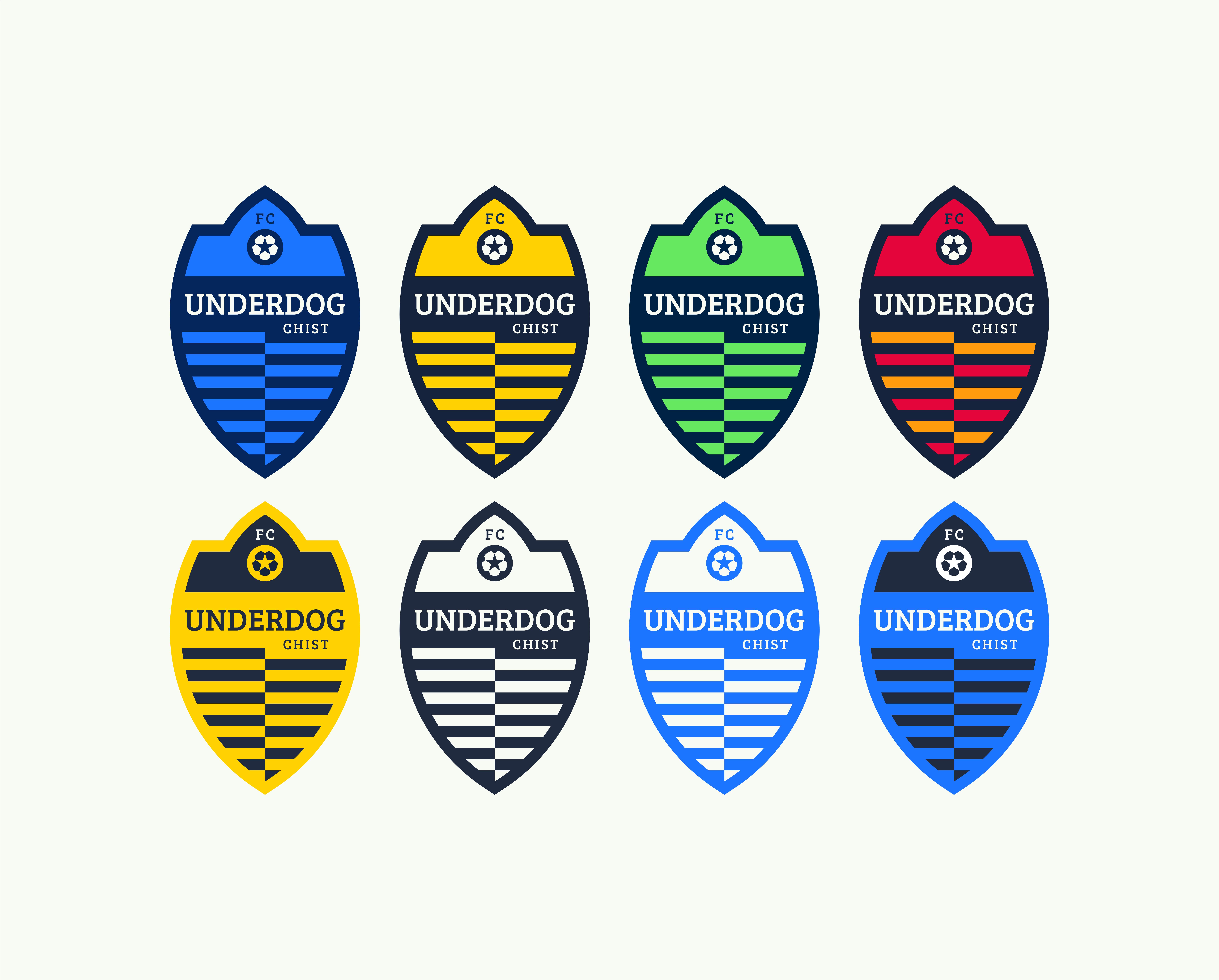 Футбольный клуб UNDERDOG - разработать фирстиль и бренд-бук фото f_1595cb3938463157.png