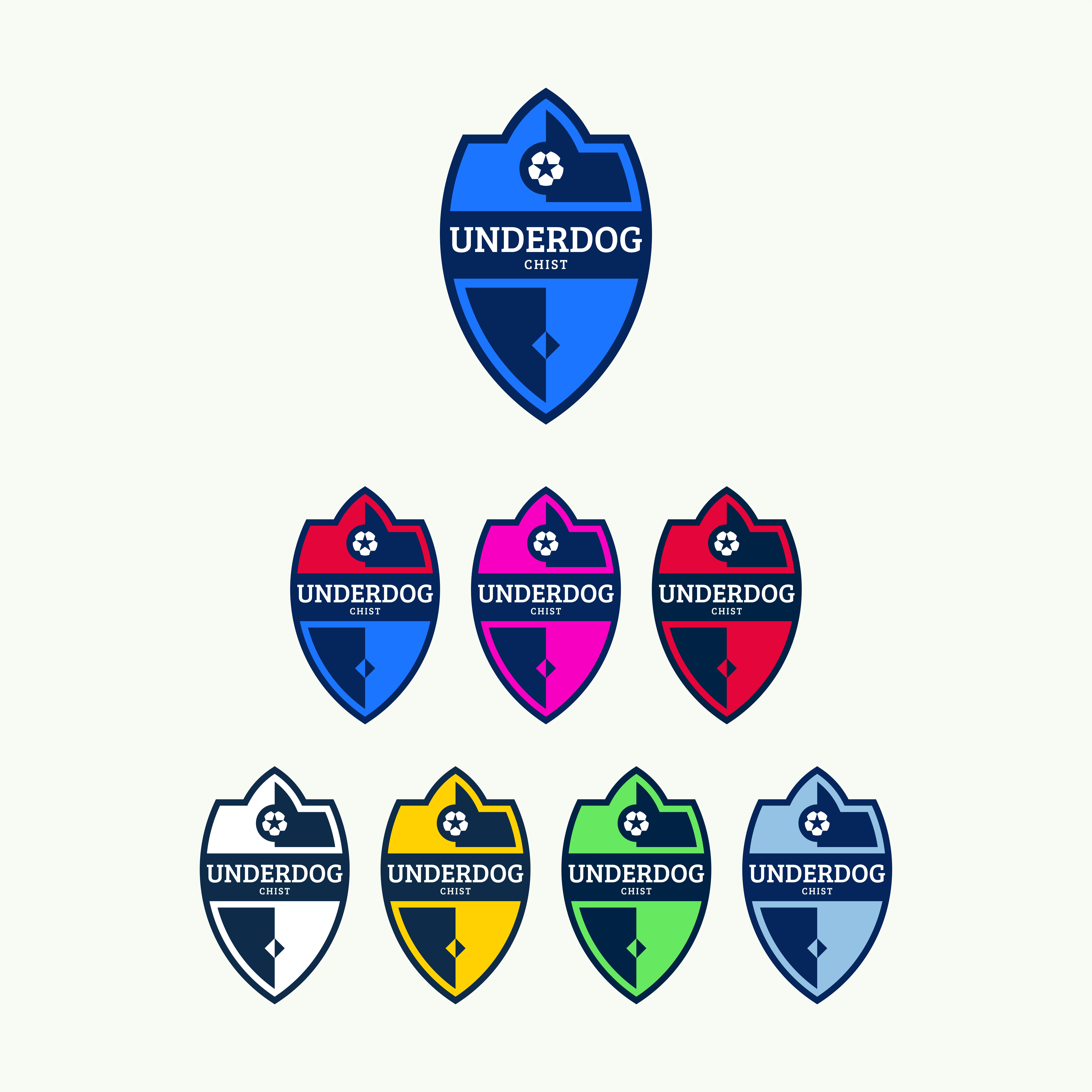 Футбольный клуб UNDERDOG - разработать фирстиль и бренд-бук фото f_5065cb3938092a98.png