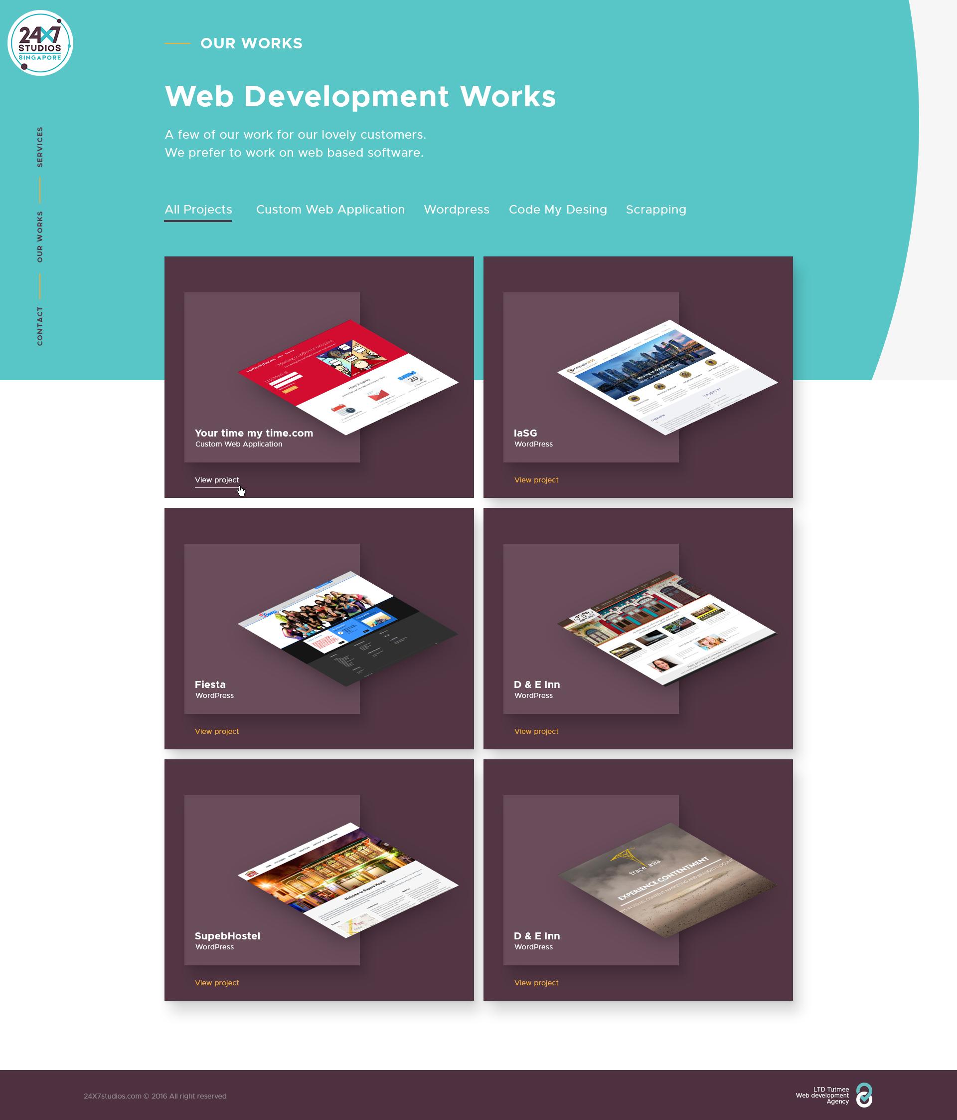 Адаптивный дизайн сайта 24x7studios