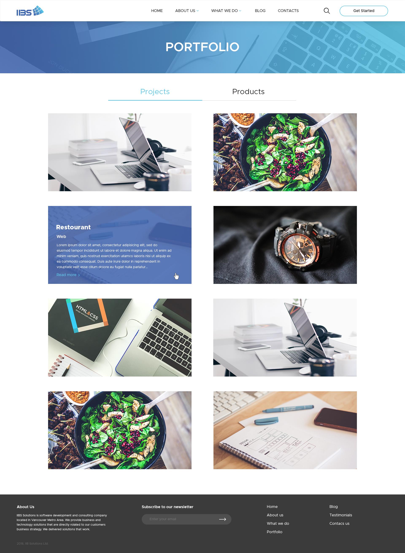 Дизайн сайта llBS Solutions – разработка сайтов и приложений