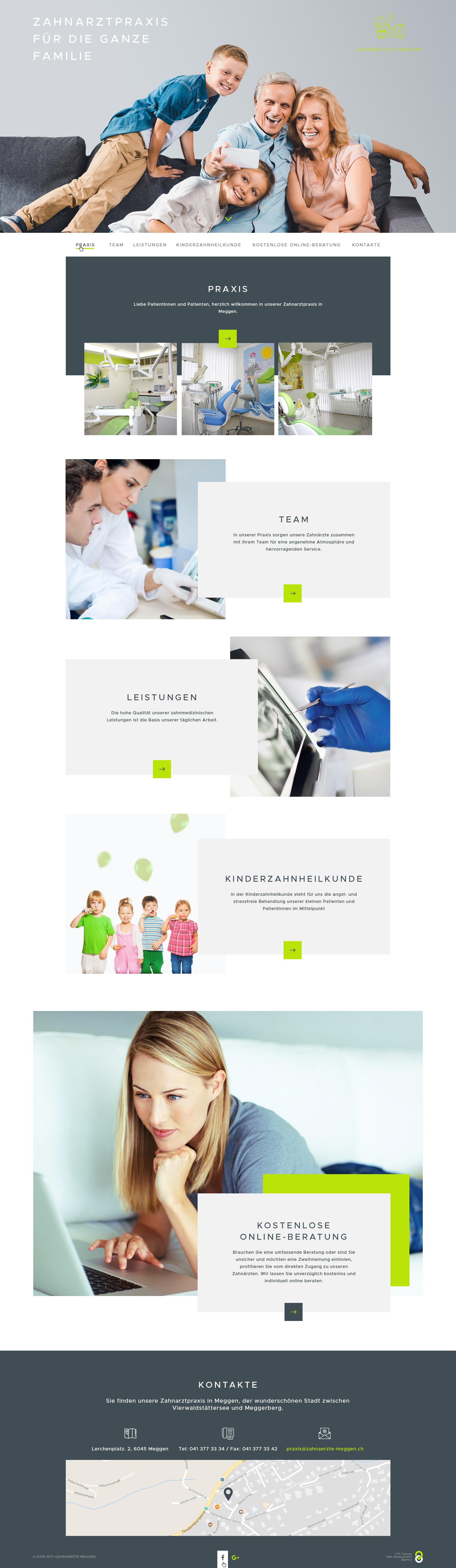 Дизайн сайта Стоматологии