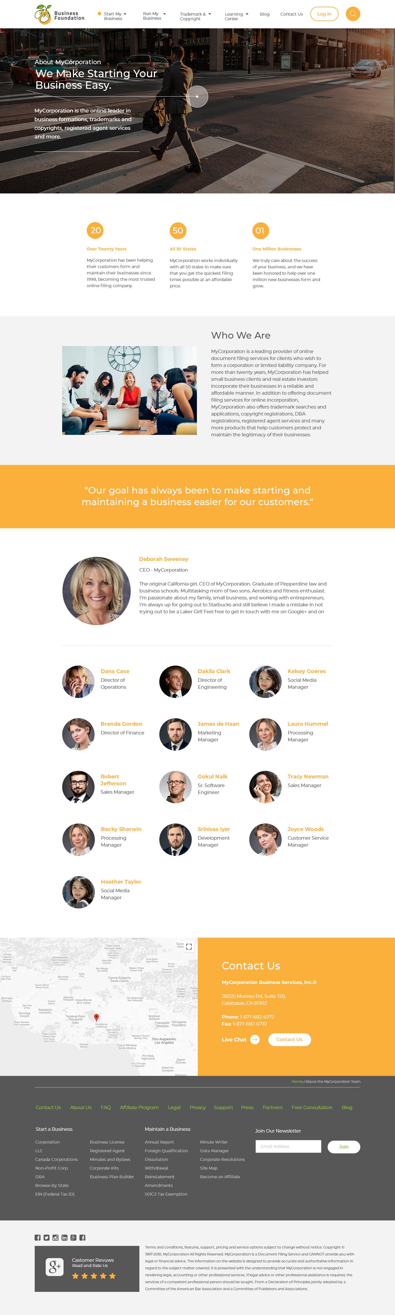 Адаптивный сайт Business Foundation