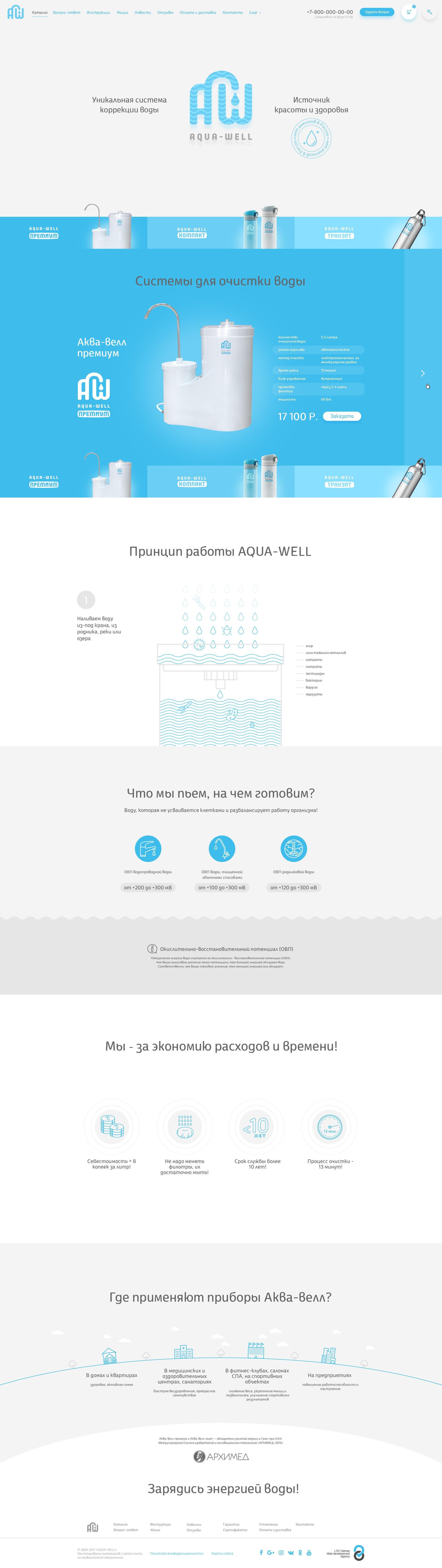 Интернет-магазин фильтров для воды Aqua-well