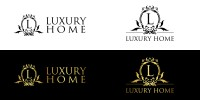 Логотип Luxury Home для сайта недвижимости