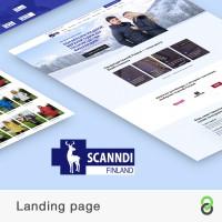 Landing page Scanndi Finland - Производитель верхней одежды