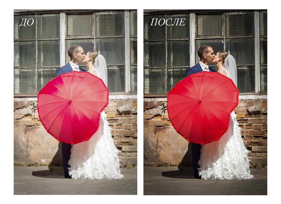 Обработка и ретушь свадебной фотографии