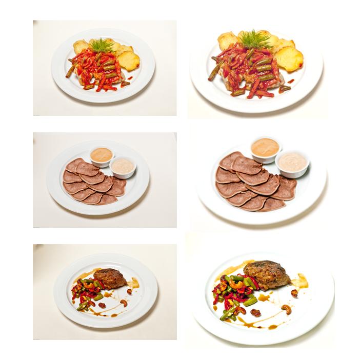 обработка блюд для меню