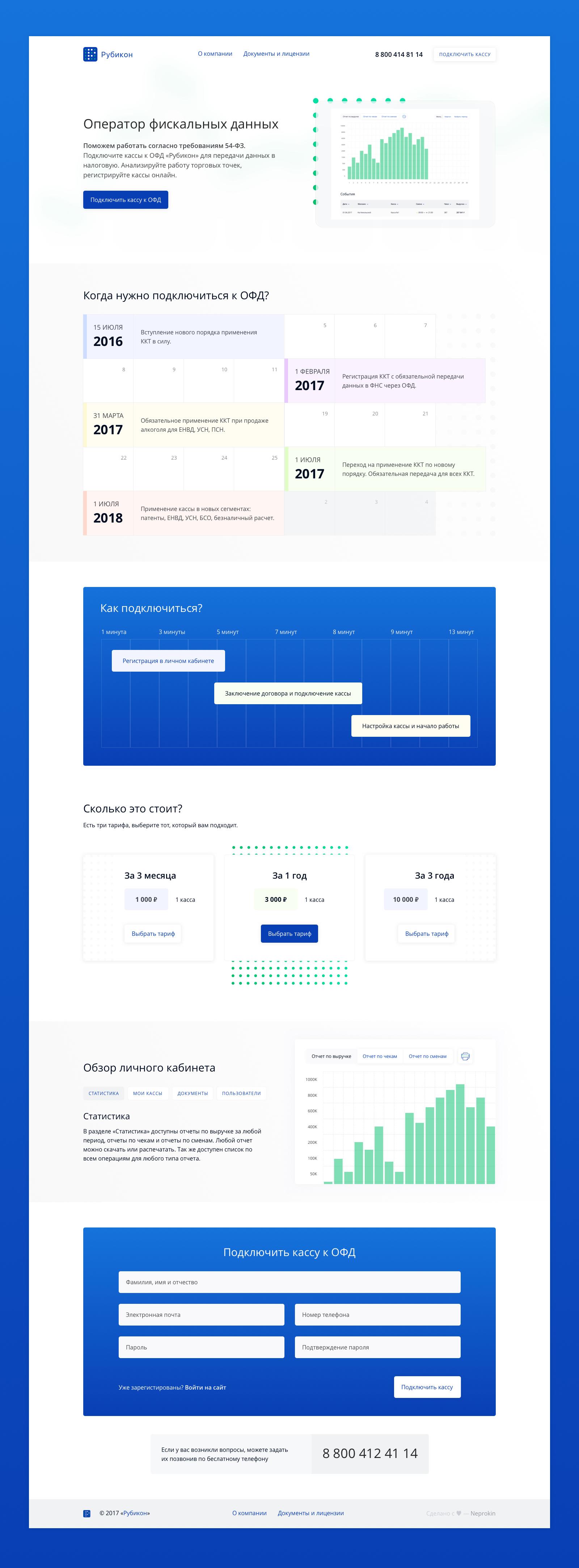 Рубикон — Сервис оператора фискальных данных