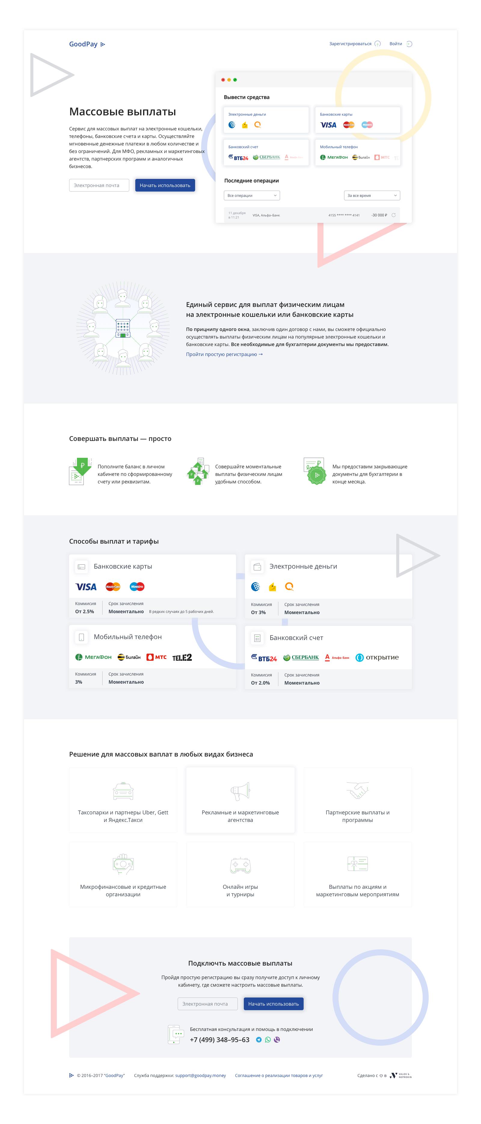 GoodPay — Сервис массовых платежей