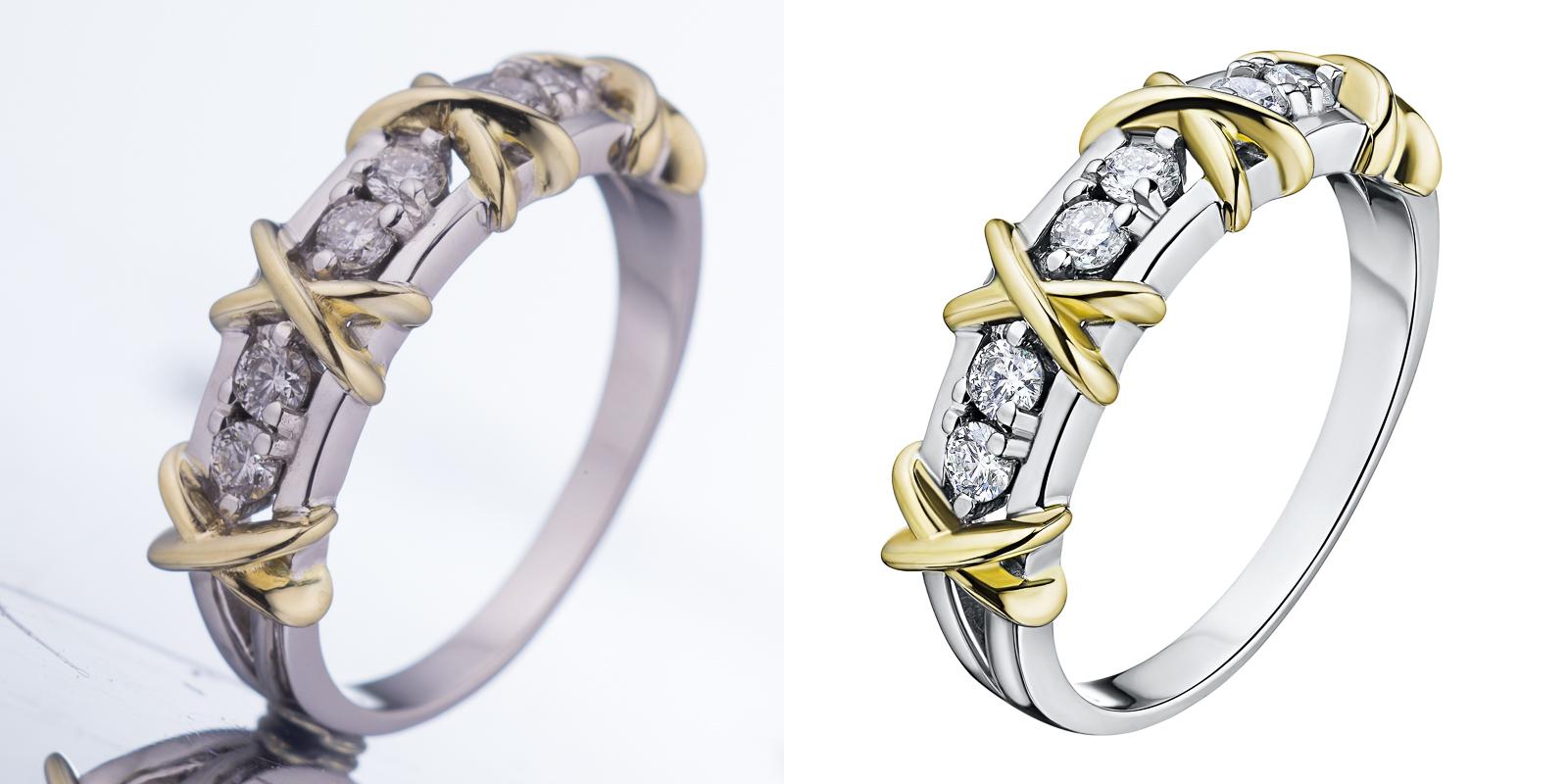 Обработка ювелирных украшений, кольца золото