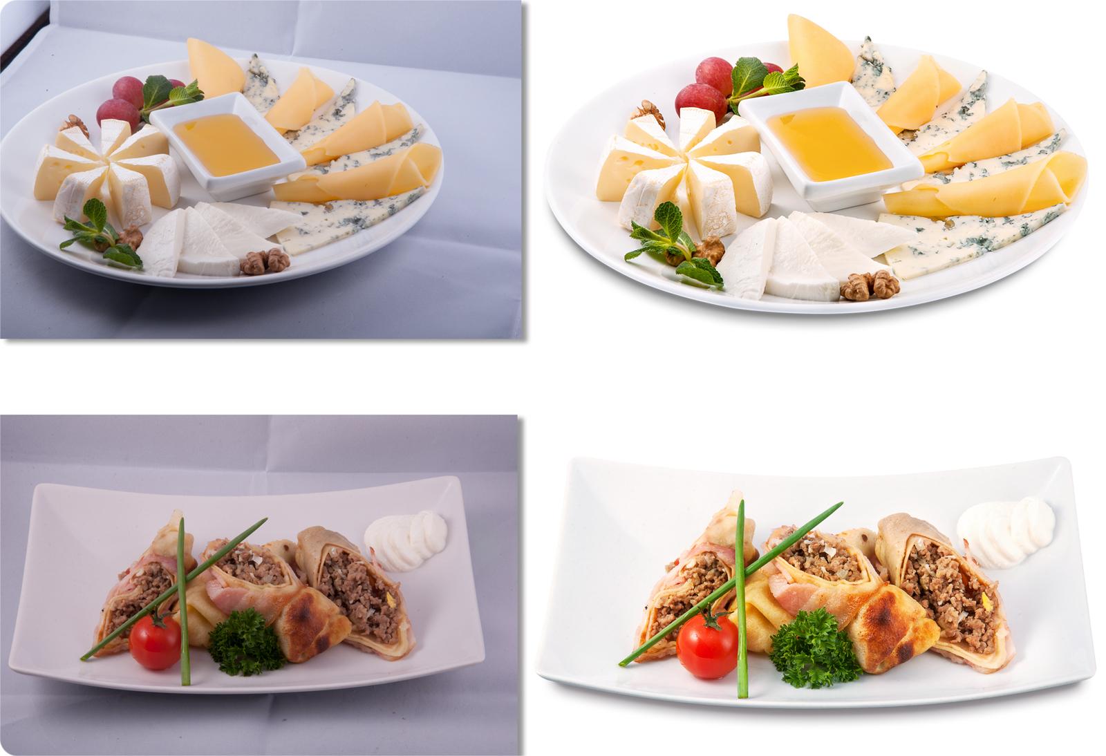 Обработка фото ресторанных блюд