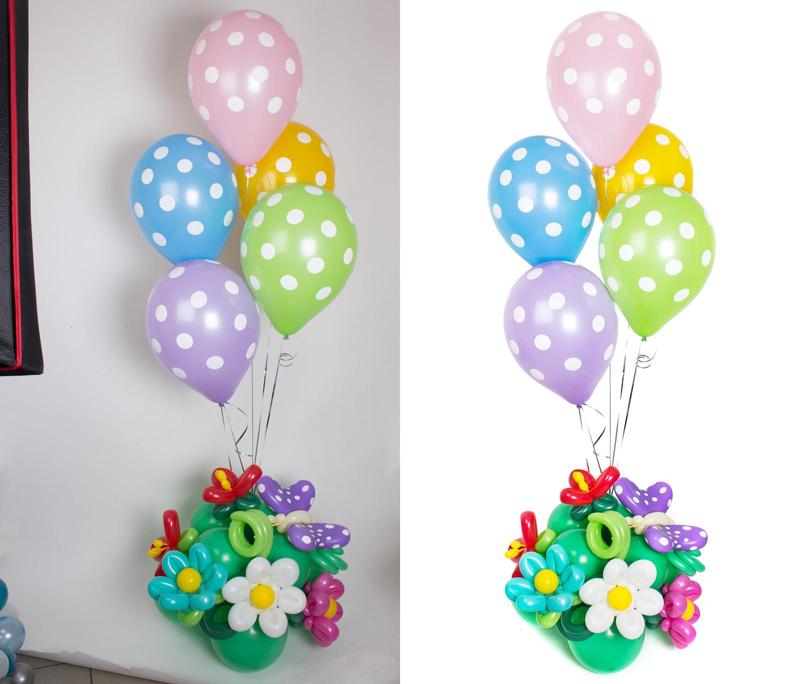 Обтравка (удаление фона) и ретушь воздушных шаров