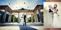 разворот свадебной фотокниги