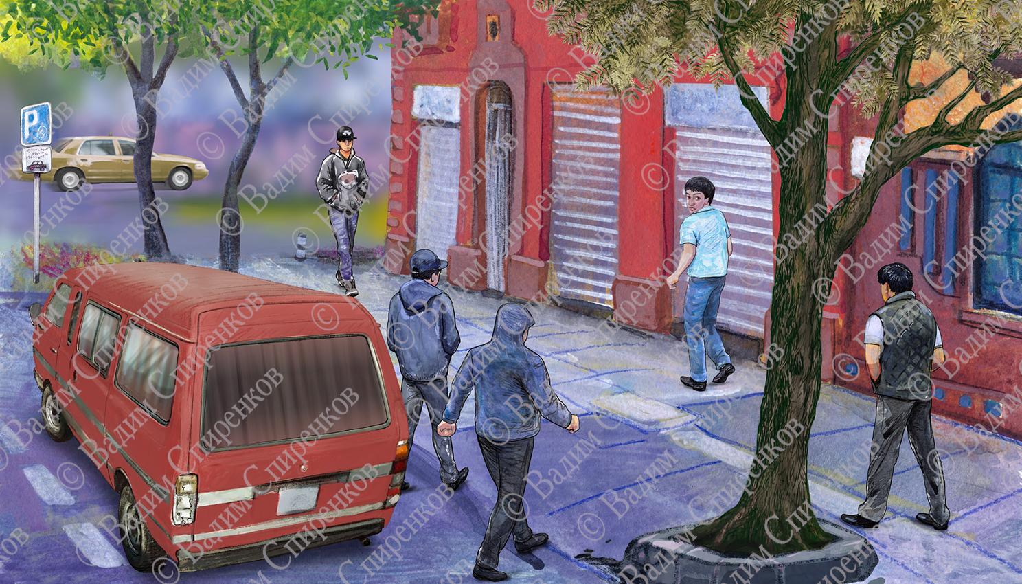 Окраина Мехико. Захват заложника.