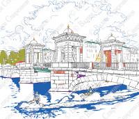 Фонтанка. Ломоносовский мост.