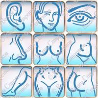 Иконки для сайта пластической хирургии.