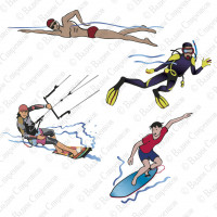 Иконки для водных видов спорта.