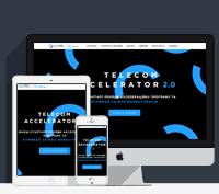 Верстка лендинга  TELECOM ACCELERATOR 2.0