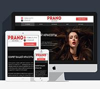 Верстка сайта салона красоты Прано
