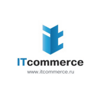 Логотип компании «IT commerce» blue
