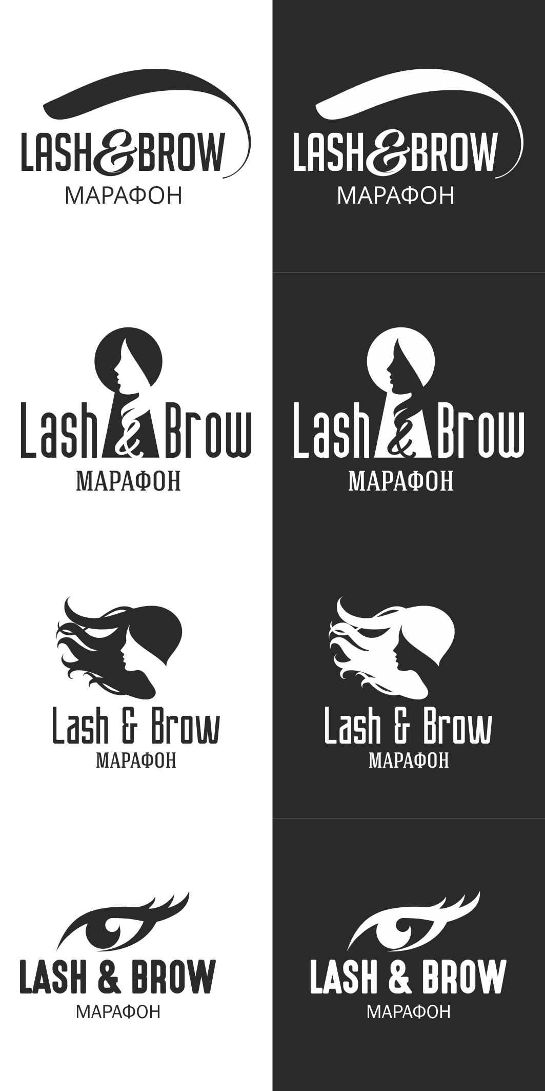 """Создание логотипа мероприятия """"Марафон Lash&Brow"""" фото f_54658f9008f7e71d.jpg"""