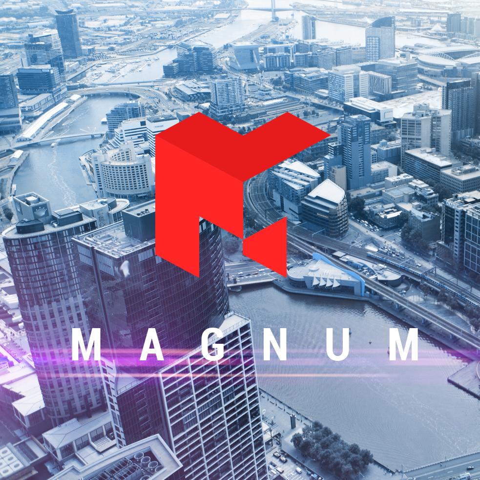 Логотип арендодателям офисов в Москве - Magnum