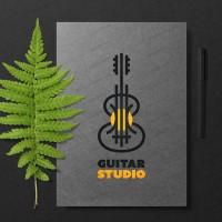Логотип для студия обучения игре на гитаре