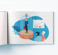 Иллюстрация для корпоративной продукции