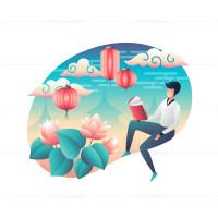 Иллюстрация для цифровой обложки книги
