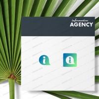 Логотип и иконка приложения для информационного сервиса из букв i и a