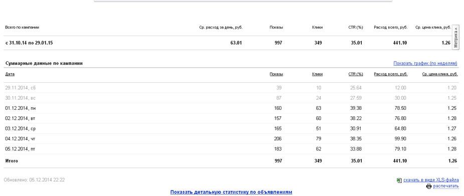 Яндекс Директ. Новогодние костюмы. 5000 руб