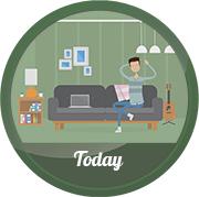 Рекламный ролик, инфографика, аренда квартир two-day.ru