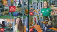 """Монтаж, рекламное видео для фитнес клуба """"Зебра"""""""