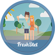 Продающий ролик, персонажная анимация, Fresh Diet