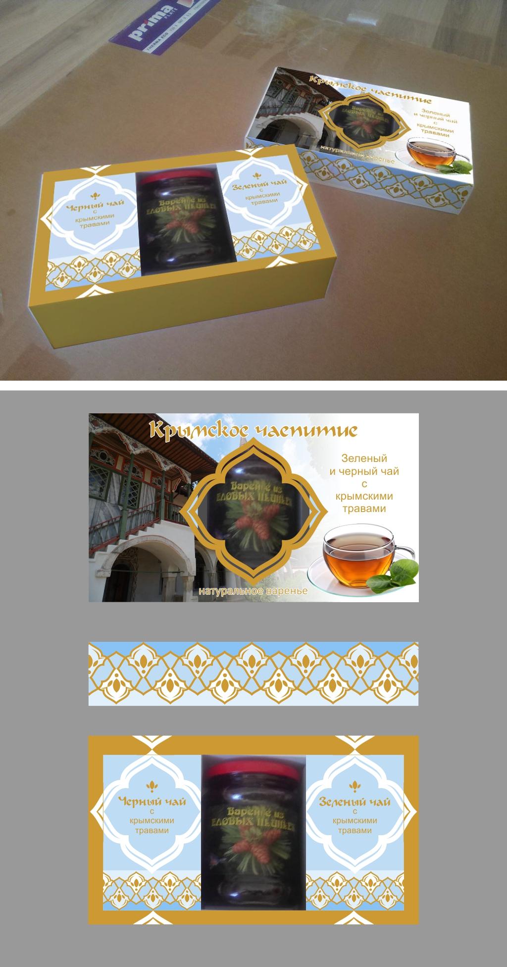 Дизайн подарочной-сувенирной коробки: с чаем и варением фото f_1585a579a1b084c4.jpg