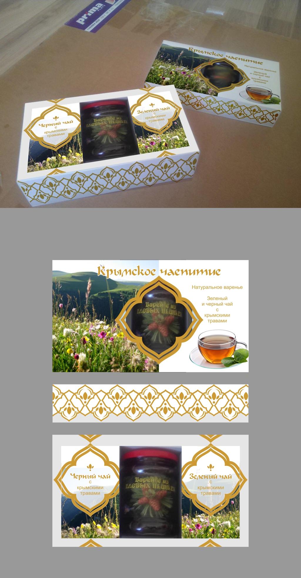 Дизайн подарочной-сувенирной коробки: с чаем и варением фото f_4735a579a17c312f.jpg