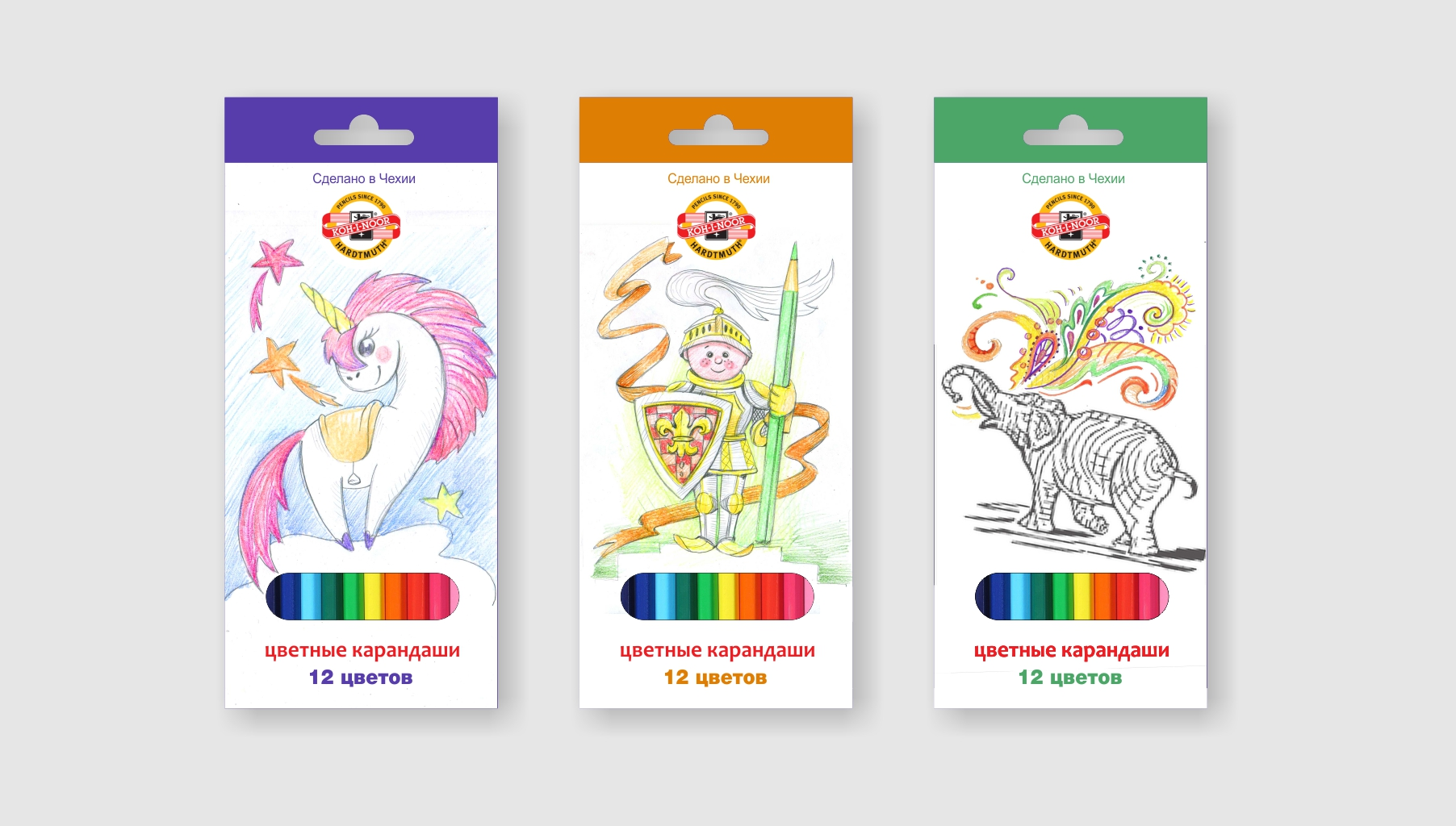 Разработка дизайна упаковки для чешского бренда KOH-I-NOOR фото f_52159f070bc297f9.jpg