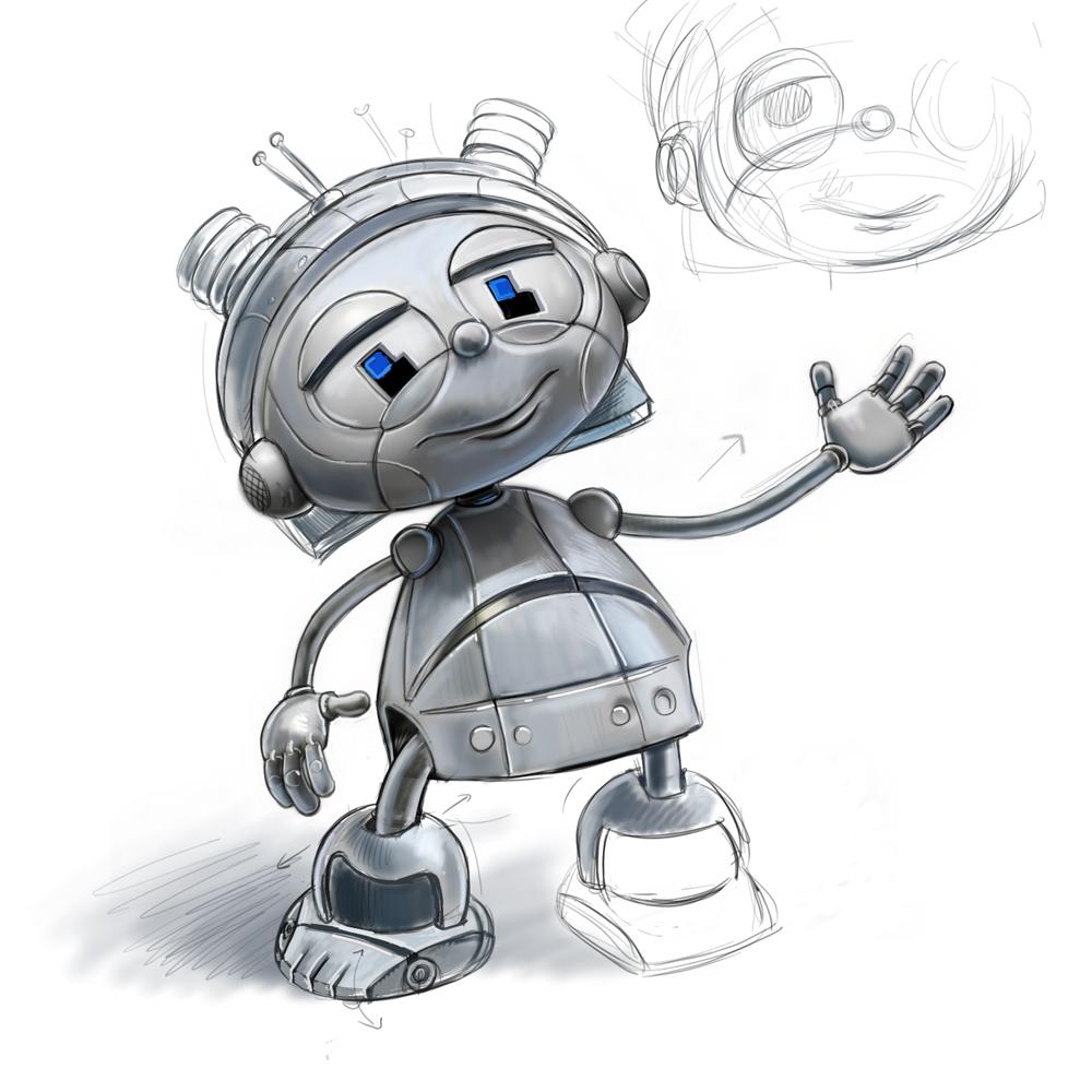 """Модель Робота - Ребёнка """"Роботёнок"""" фото f_4b502cb1cbabf.jpg"""