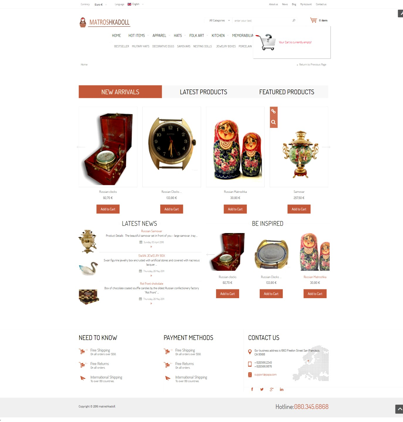 Магазин русских сувениров Для АМЕРИКИ