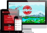 Адаптивная верстка сайта + оригинальная анимация транспортной компании GoEast