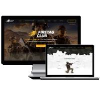 Дизайн для сайт-визитки военно-тактической игры нового поколения