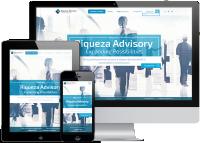 Адаптивная верстка + оригинальная анимация корпоративного сайта Riqueza Advisory