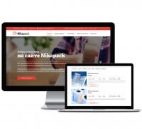 Дизайн сайта-визитки компании NikaPack